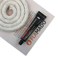keramische Ofendichtung   Dichtschnur für Ofentüre   12mm x 3m inkl. Kleber   passend für Oranier Alto**   schamotte-shop.de