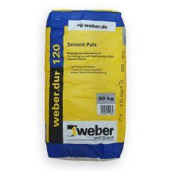 Weber.dur 120 Ofenputz - Zementputz mineralisch - Körnung 0-3mm - 30kg | günstig kaufen | Schamotte-Shop.de
