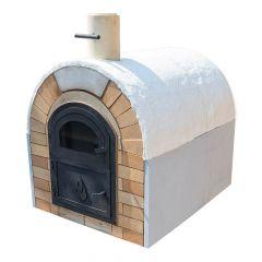 Pizzaofen Bausatz Caserta Premium | Innenansicht | PUR Schamotte | Schamotte-Shop.de