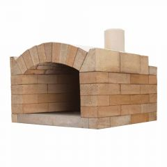 Pizzaofen Bausatz Milano Basic | Gartenbackofen | PUR Schamotte | Schamotte-Shop.de