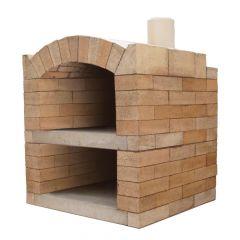 Pizzaofen Bausatz Rom Basic Vorderansicht | Gartenbackofen | PUR Schamotte | Schamotte-Shop.de