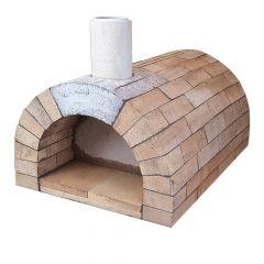 Pizzaofen Bausatz Toskana Basic | Gesamtansicht | PUR Schamotte | Schamotte-Shop.de