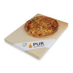 Pizzastein 400 x 300 x 20mm | lebensmittelecht | PUR Schamotte | Schamotte-Shop.de