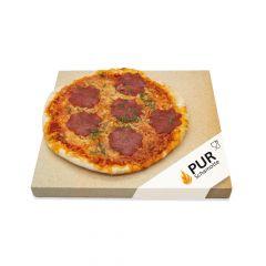 Pizzastein Grill 50 x 50 x 3 cm | lebensmittelecht | PUR Schamotte | Schamotte-Shop.de