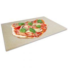 Profi Pizzastein 40 x 30 x 1,5 cm | lebensmittelecht | PUR Schamotte | Schamotte-Shop.de