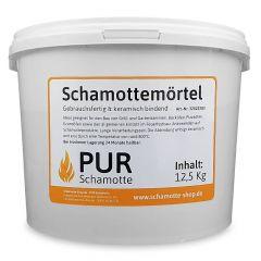 PUR SCHAMOTTE Schamottemörtel 12,5 kg Eimer | keramisch bindend | Schamotte-Shop.de