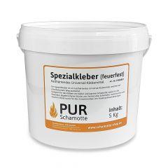 Feuerfester Kleber 5kg | Spezial Kleber | PUR Schamotte | Schamotte-Shop.de