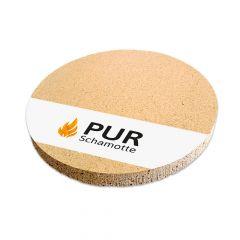 Pizzastein Grill Schamotte rund Ø 190x30mm | Detailansicht | PUR Schamotte | Schamotte-Shop.de