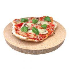 Pizzastein Brotbackstein rund | 340 x 20 mm | lebensmittelecht | PUR Schamotte | Schamotte-Shop.de