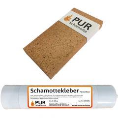 Schamottereparatur-Set - Schamottstein NF2-30 + Schamottekleber 500g