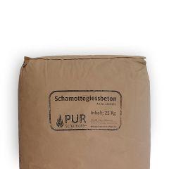 Schamottegiessbeton 25kg Feuerfest| PUR Schamotte | Schamotte-Shop.de