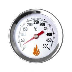 Edelstahl Thermometer mit Einschraubgewinder für Pizzaofen | PUR Schamotte | Schamotte-Shop.de