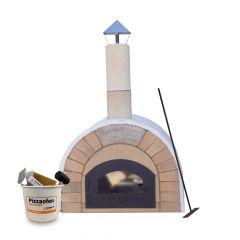 Pizzaofen Bausatz Toskana Premium 2.0 XXL | Innenansicht | PUR Schamotte | Schamotte-Shop.de