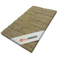 Vermiculite Platte Sandstein Optik 500 x 500 x 30 mm | Brandschutzplatte | Flamado | Schamotte-Shop.de