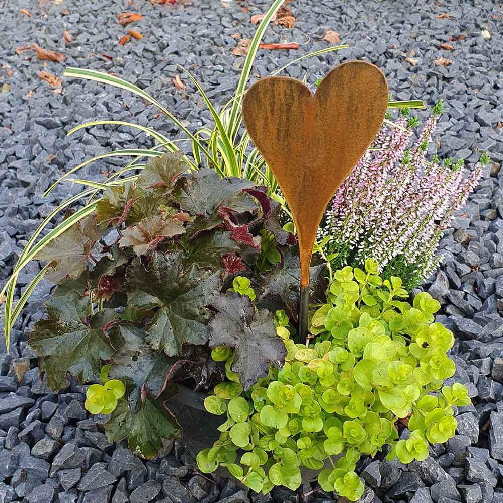 Gartendeko Edelrost Herz