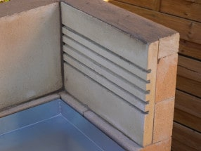 Rillensteine & Rillenplatten für Grillkamine