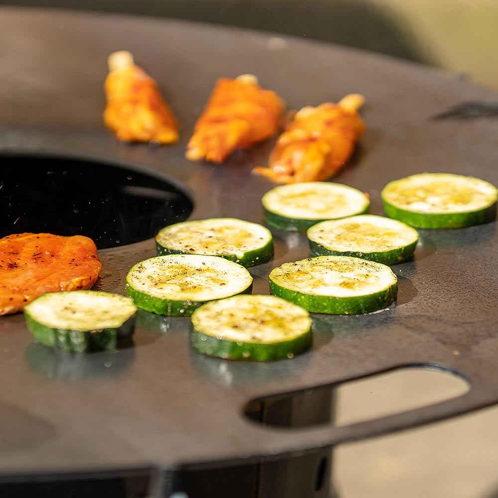 Grillzubehör - Feuerplatte und Grillring
