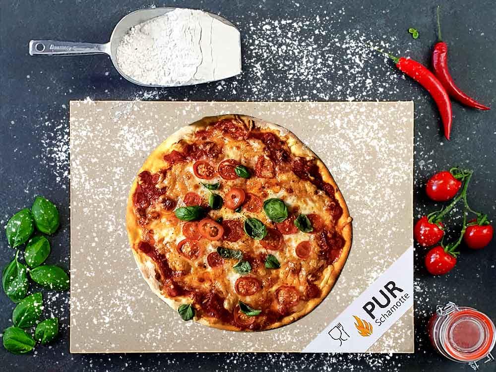 Lebensmittelechte Pizzasteine aus Schamotte
