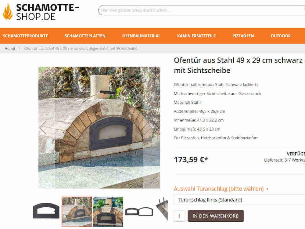 Produkte bei Schamotte-Shop.de