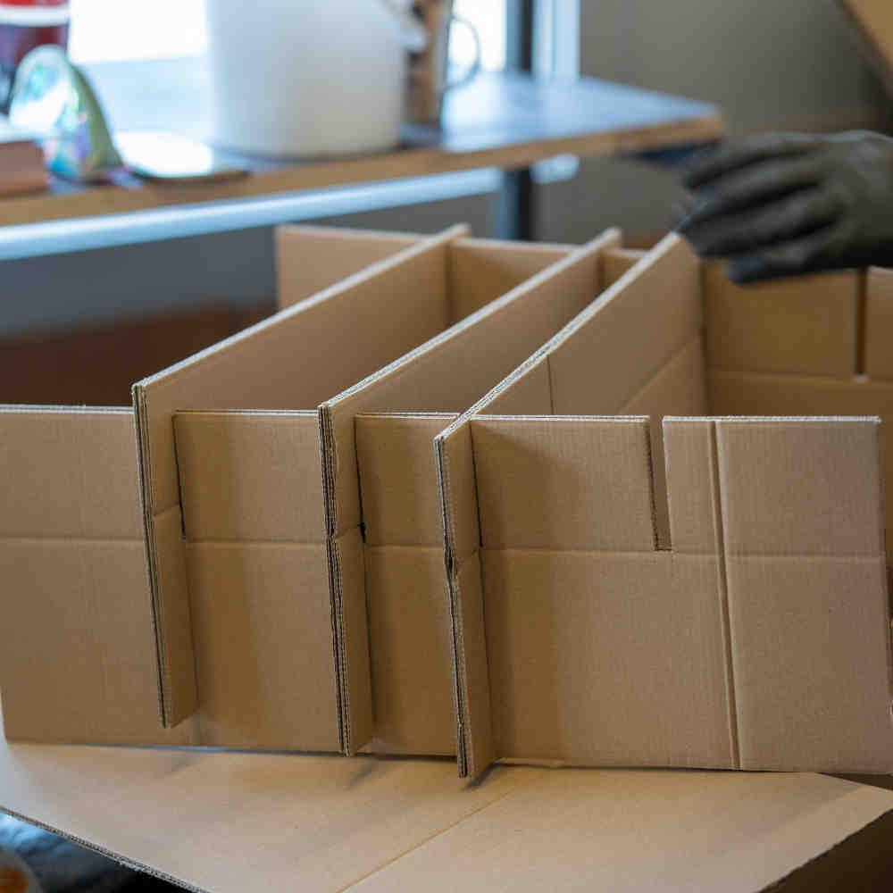 Verpackung zusammenbauen