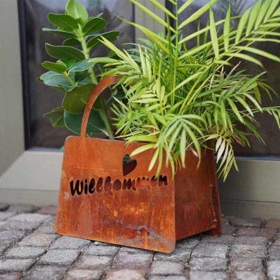 Edelrost Gartendeko für Garten, Terrasse & Balkon
