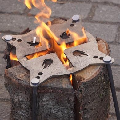 Schwedenfeuerplatte, Hähnchenschenkelhalter & sonstiges Grillzubehör