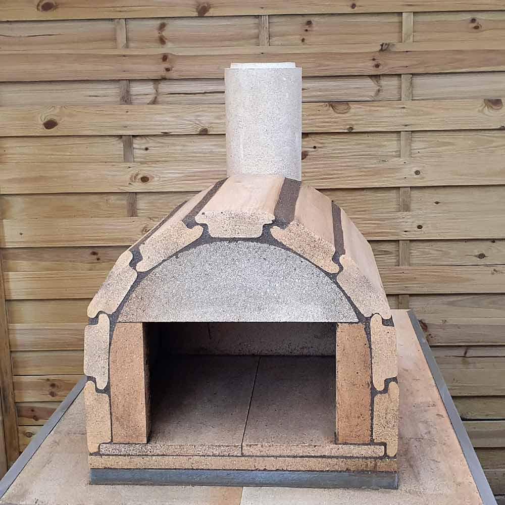 Pizzaofen Bausatz Genau Aufbau vorne
