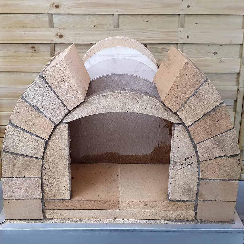 Pizzaofen Bausatz Toskana Rundbogen mauern