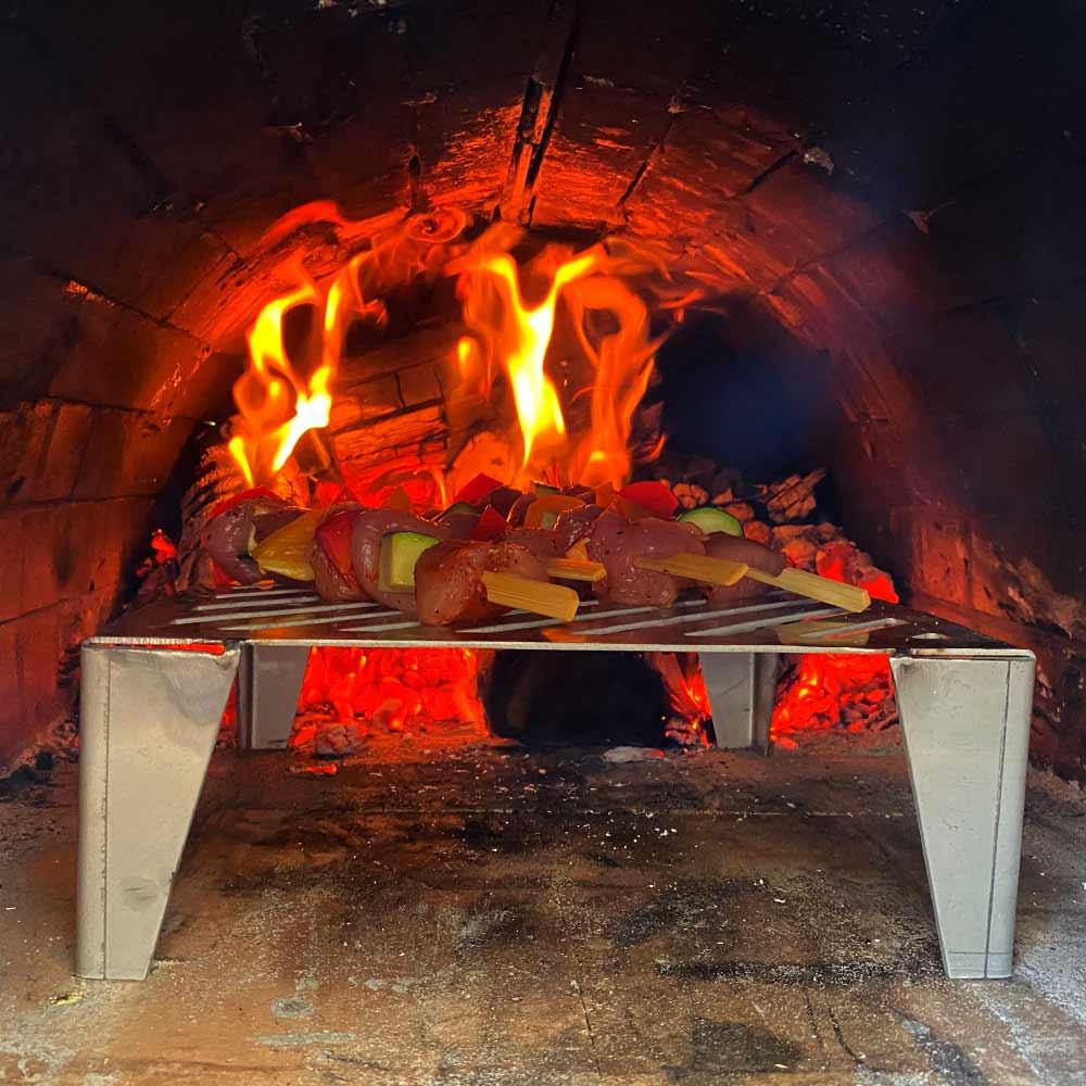 Grillrost für Pizzaofen