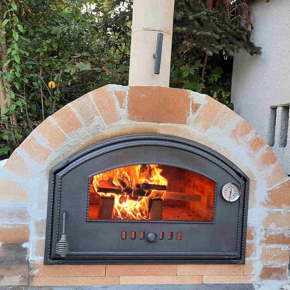 Pizzaofen Merano Premium bauen im Garten