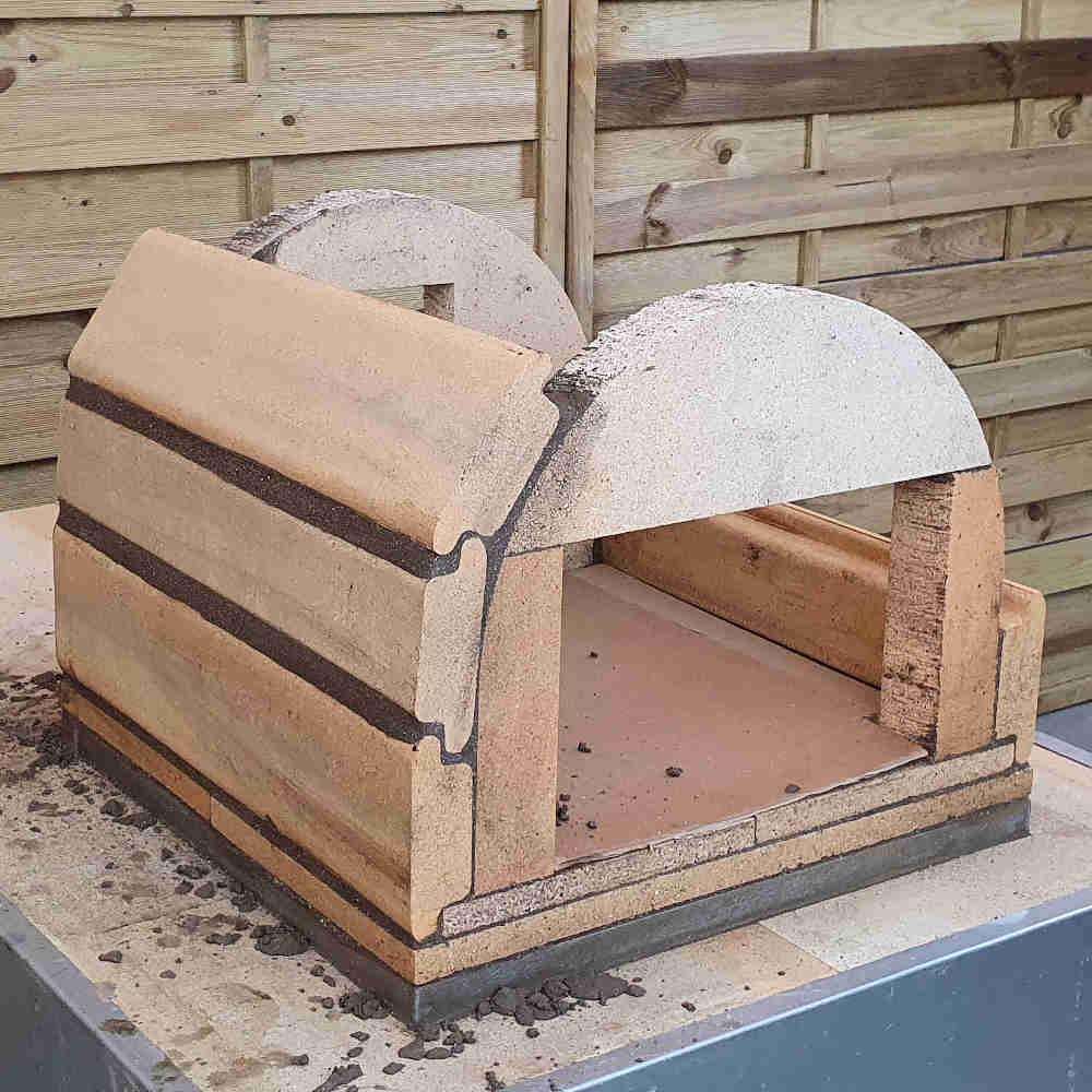 Pizzaofen Bausatz Genua: Wölbung bauen