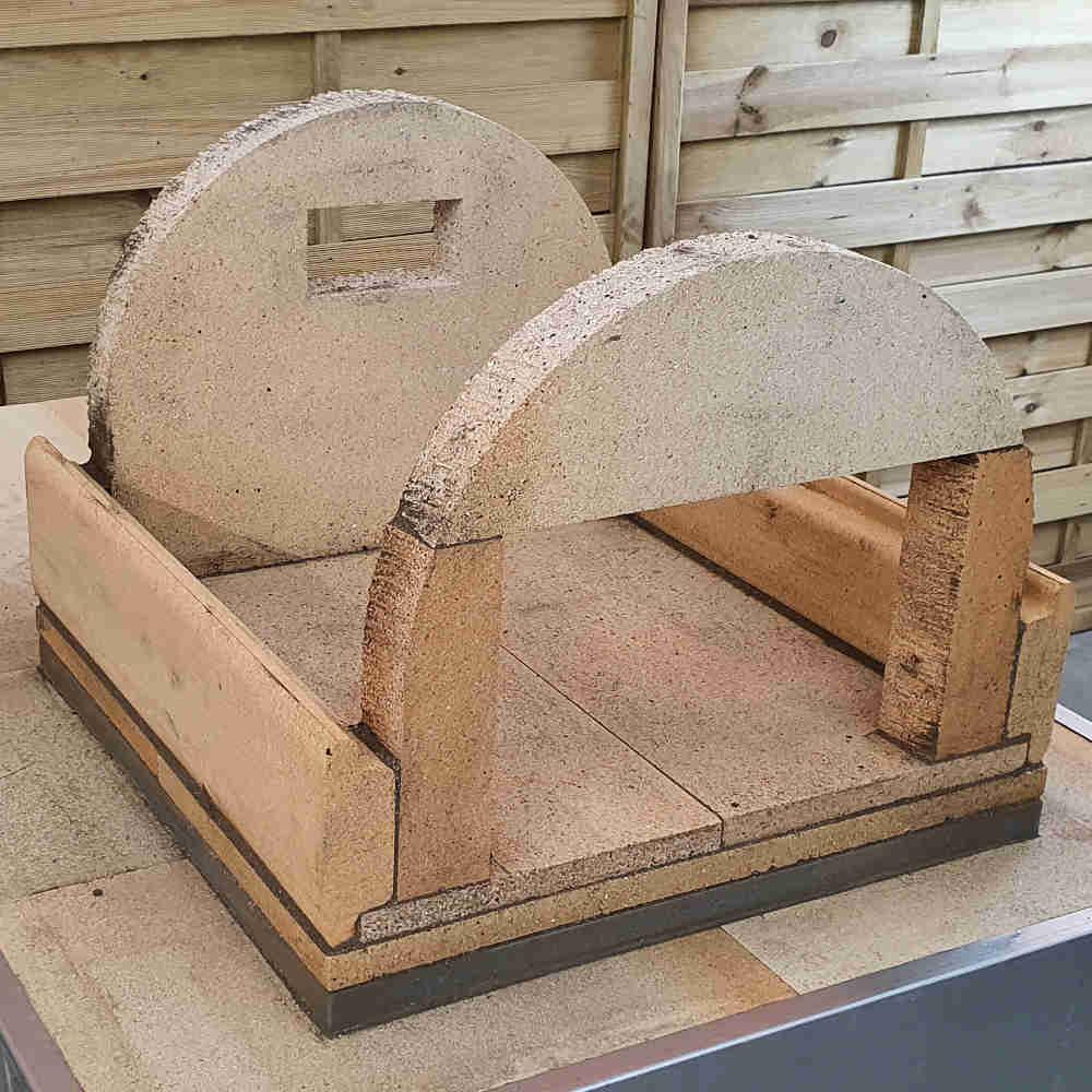 Pizzaofen Bausatz Genua bauen: Türsteine