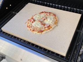 Rechteckige Pizzasteine für den Grill