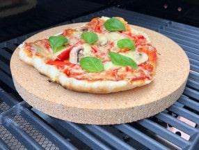 Runde Pizzasteine für den Grill