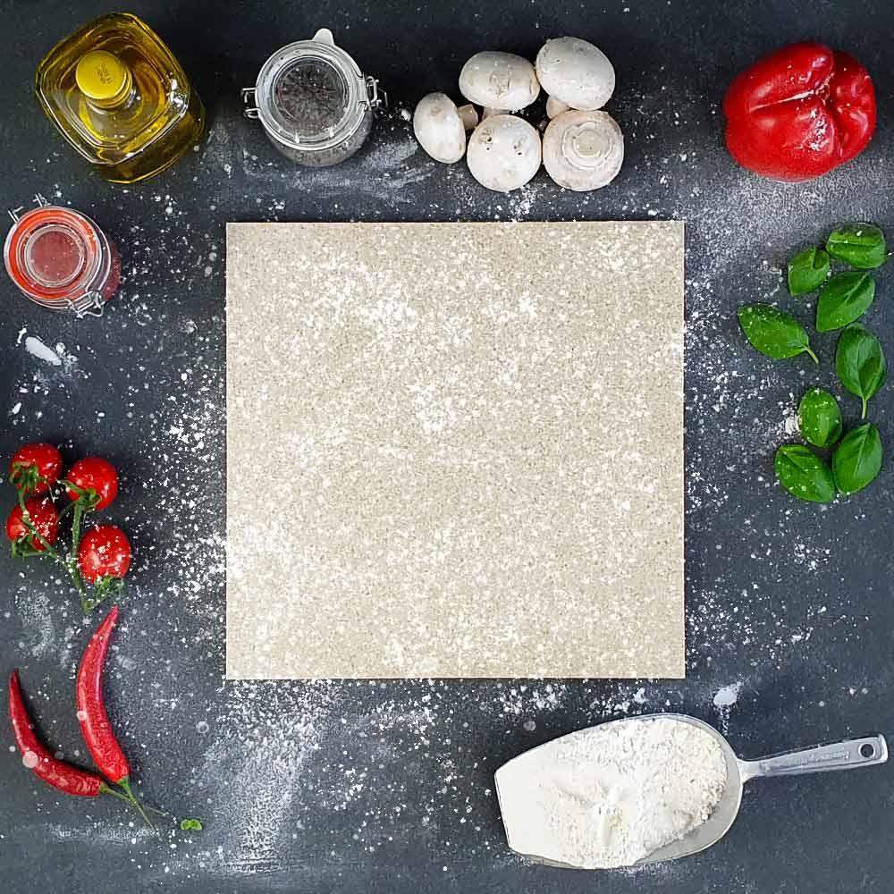 Quadratische Pizzasteine