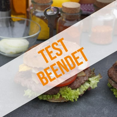 Anmeldung zum Produkttest für Burgerspieße Stier