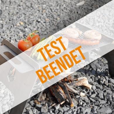 Anmeldung zum Produkttest für Feuerplatte to go mit Grillrost
