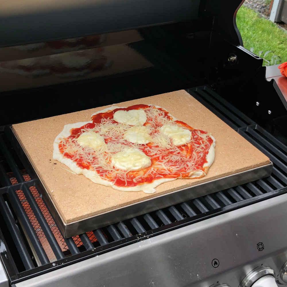 Anmeldung: Pizzastein mit Edelstahlrahmen im Produkttest