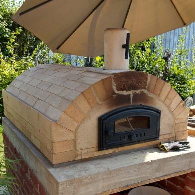 Bauanleitung für Pizzaofen mit Flachgewölbe - Merano