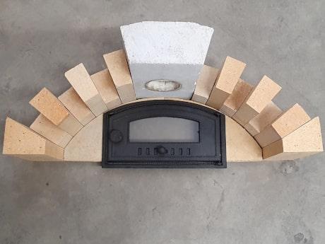 Pizzaofen-Bauanleitung Merano: Flachgewölbe bauen