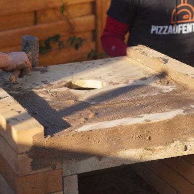 Pizzaofen Bauanleitung: Pizzaofen Salerno ohne Gewölbe bauen - Decke mauern