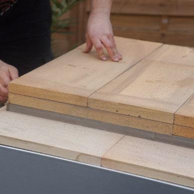 Bauanleitung: Pizzaofen Salerno ohne Gewölbe bauen - Boden verlegen