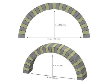 Rundbogen bauen - Breite 1100 mm