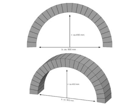 Rundbogen bauen - Breite 900 mm