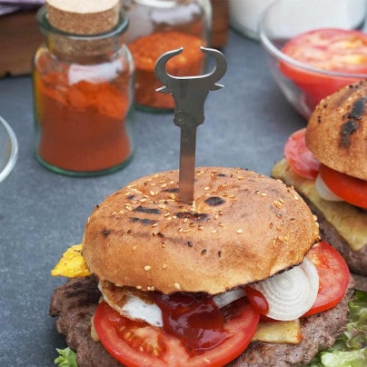 Burgerspieße aus Edelstahl