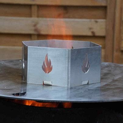 Wokaufsatz für Feuerplatten