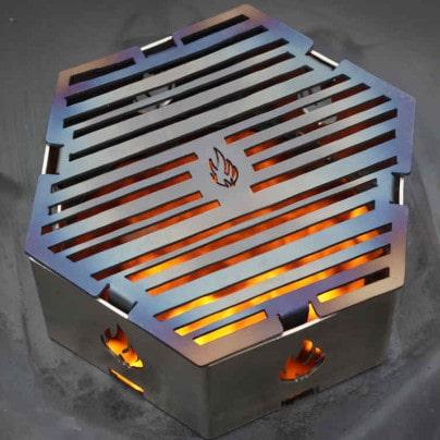 Grillrost eckig für Feuerplatten