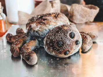 Halloween-Rezept: Spinnenbrot auf dem Brotbackstein backen