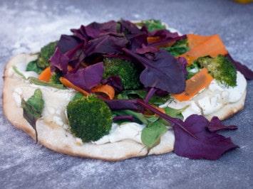 Vegane Pizza: bunt & gesund