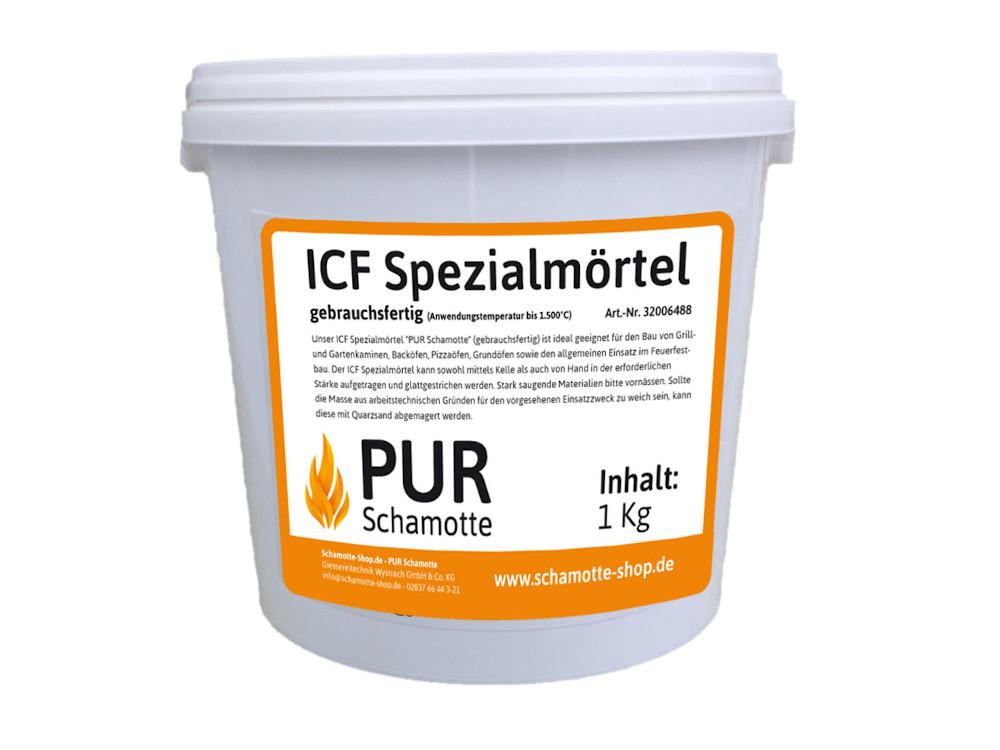ICF-Spezialmörtel  von PUR Schamotte